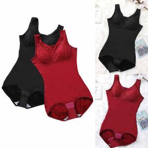 Women Tummy Control Sleeveless Body Shaper Slimming Bodysuit Shapewear Underwear