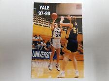 Yale University Bulldogs 1997/98 Women's Basketball Pocket Schedule - Ikon