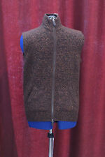 NWT Daniel Cremieux Medium Wool Blend Zip Front Pockets Hunting Vest Sweater 150