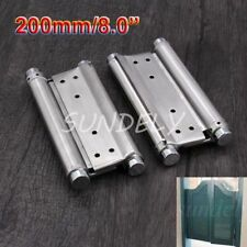 Groom LIOB 200mm double action spring hinges silver heavy duty for kitchen doors