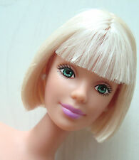 Barbie Doll NUDE Short Blonde Hair With Short Bangs, Blue Eyes CUTE! NEW!