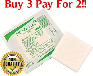 Sterile Non Woven Swabs 5cm, 7.5cm, 10cm Absorbent Pads 4PLY Gauze First Aid UK