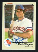 Mark Wagner #582 signed autograph auto 1983 Fleer Baseball Trading Card