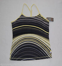 Womens Tank Top ENERGY ZONE Racer Back YOGA Cami Tank BLACK YELLOW GRAY  M 8-10