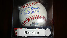Ron Kittle autographed baseball 100% authentic with COA