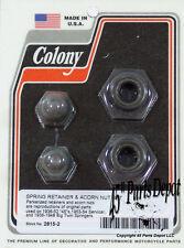 Harley 36-54 Springer Spring Retainer & Top Nut Set Parkerized Colony 2815-2
