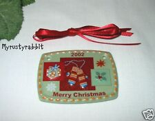 Longaberger 2002 Christmas Traditions Ceramic Tie-On