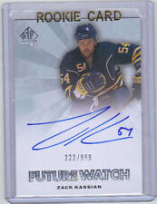 11-12 SP Authentic Zack Kassian Auto Rookie Card RC #279 Future Watch Mint /999