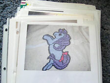 LITTLE UNICORN WALL HANGING IN PLASTIC CANVAS