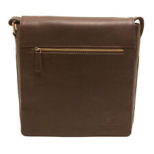 UNDERWOOD & Tanner-En Cuir Marron Mike Shoreditch Medium Messenger sac