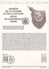 Document Philatélique Timbre 1er Jour : 24/10/ 1981 - Maison de la Chasse