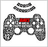 Personalised birthday card game controller teenager football console gaming
