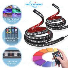 2 pcs RGB LED Car Truck Bed Light Strip Waterproof Neon Glow Lamp Remote Control