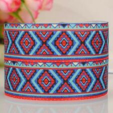 5yds 7/8'' (22mm) gorgeous design printed grosgrain ribbon Hair bow diy Y897