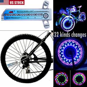 Bicycle Bike Wheel Wheel Spoke Wind Fire Wheel Bicycle Flash Light Decoration