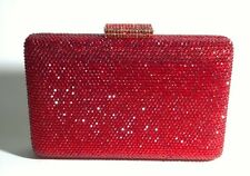 US Stock Hot Red ~Square Shaped Gorgeous Bridal/Prom/Evening Crystal Clutch Bag