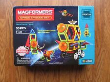 MAGFORMERS Space Episode Set (55 Piece)...Kids Holiday Building Toy Item #03014