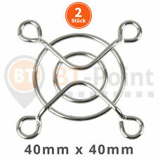 2 x Lüftergitter 40x40mm 4cm verchromt metal steel fan grill RepRap Prusa Lüfter