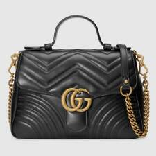 Gucci GG Marmont Small Top Handle Bag (black Leather)
