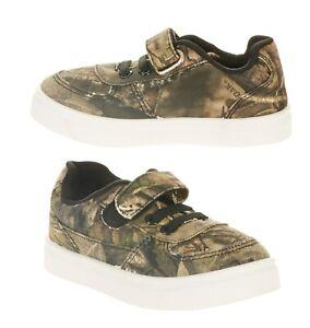 NEW Mossy Oak Sneaker Size 6 7 8 9 10 12  Boys Ethan Green Camo  EASY FASTEN