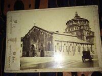 Deux Photographies : Chiesa Delle Grassié  et San Ambrosio. MILAN vers 1880.