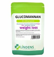 Glucomannan (Konjac Fibre) 500mg Capsules 90 Pack Lindens Health Weight Loss