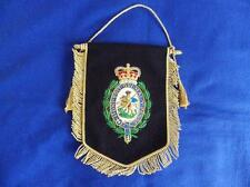 ROYAL REGIMENT OF FUSILIERS ( RRF CYPHER ) PENNANT WITH BULLION WIRE BADGE