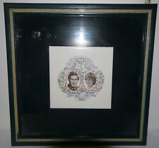 Royal Wedding Charles & Diana Commemorative Photo 1981 framed w/glass perfect