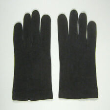 Mens Gloves Size 7 3/4 Leather 9 Inch Stitching Brown Stitch