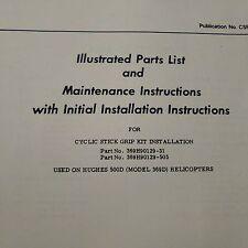 Hughes 500D, 369D Cyclic Stick Grip 369H90129 Install Service & Parts Booklet