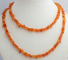 Natural Cornalina CADENA ca 90 cm INTERMINABLE,piedras preciosas,collar,collar,