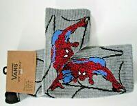 Vans X Marvel Mens Spiderman Grey Crew length Socks Size 9.5-13 Free Ship NWT