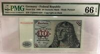 1980 Germany - Federal Republic  10 Deutsche Mark P31d PMG Gem UNC 66 EPQ