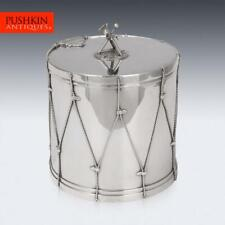 More details for antique 19thc victorian silver plated regimental drum ice bucket c.1890