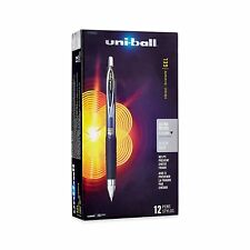 Uni-Ball Signo 207 Retractable Gel Pen, Ultra-Micro Point, Black Ink, 12-Count
