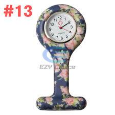 Silicone Nurse Watch Brooch Tunic Fob Nursing Nurses Pendant Clip Quartz #13