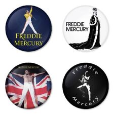 Freddie Mercury, Queen - 4 chapas, pin, badge, button