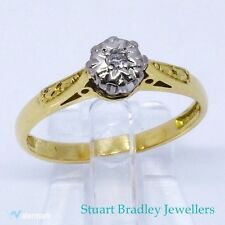 1950/60s Diamond Solitaire Ring 18ct | Size J1/4 (UK) 5 (US)