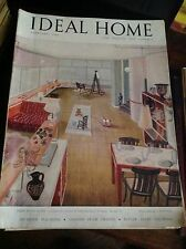 IDEAL HOME FEBBRAIO 1948 RIVISTA ORIGINALE VINTAGE ARREDAMENTO HOME GARDENING