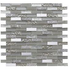Cut down sample of inka platinum glass mosaic tiles