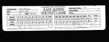 Truck Robinson & Billy Joe Tolliver Celebrity Golf Scorecard 94 E Austin Classic