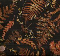 Harvest black orange gold autumn leaves Timeless Treasures fabric