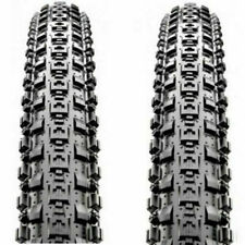 "1 PAIR Maxxis Crossmark MTB Tyres 26 x 2.10"" Black Mountain Bike Tires Durable"