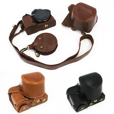 Hq Leather Camera Protector case Bag Grip strap for Sony Zv-E10 With 16-50 Lens