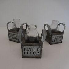 3 vases soliflores PETITE FLEUR art-déco retro vintage fait main