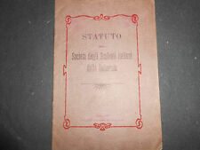 1905 STATUTO DELLA SOCIETA' DEGLI STUDENTI ITALIANI DELLA DALMAZIA ZARA
