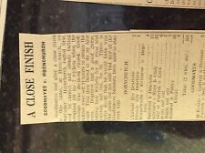 M3-9b ephemera 1941 dagenham ww2 cricket report goodmayes v hornchurch dearlove