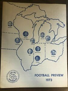 BIG TEN CONFERENCE FOOTBALL PREVIEW 1973 VERY GOOD CONDITION