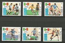 COUPE DU MONDE DE FOOTBALL Mexico 86 LAOS 6 timbres oblitérés /T245