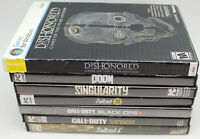 Lot of 7 PC First Person Shooters Call of Duty,WWII,Black Ops,Singularity,Doom